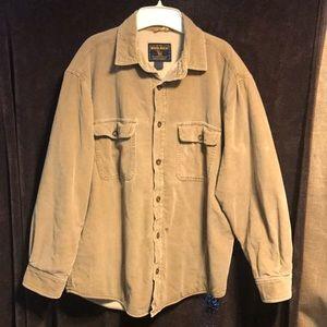 Woolrich fleece lined corduroy shirt field jacket